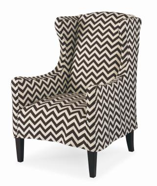 Chevron pattern wing chair image