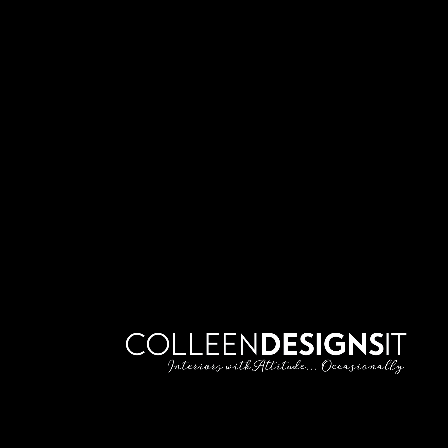 Image showing correct use of Colleen Designs It logo on white square background.