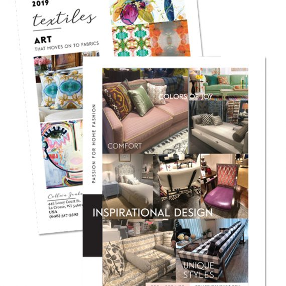 2019 -FLYER of Interior design inspiration for unique styles, colors and comfort.